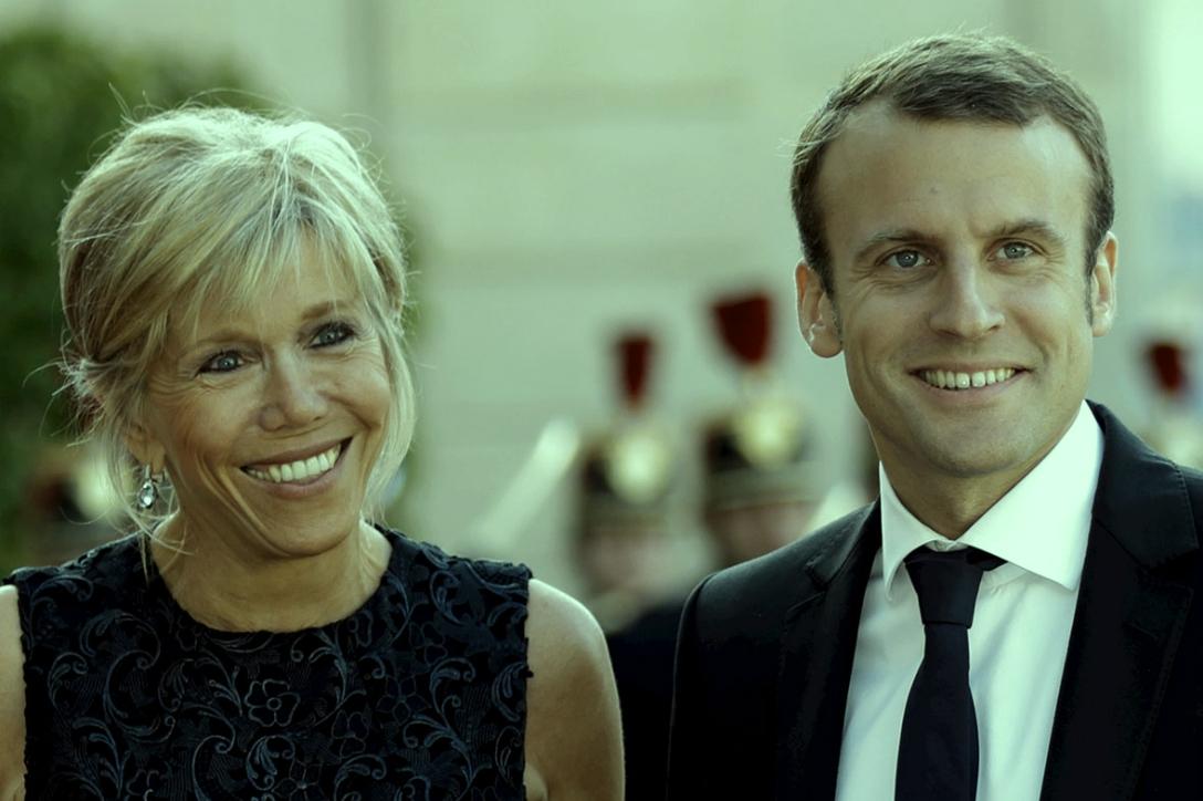 Image result for ماكرون وزوجته