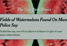 بطيخ على المريخ...نيويورك تايمز تنشر ثم تحذف مقالاً عن وجود بطيخ على المريخ
