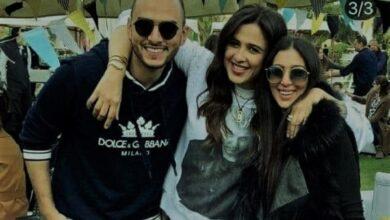 ياسمين عبدالعزيز وابنة محمد حلاوة وزوجها