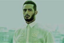 محمد رمضان يتجول مع نمر أبيض