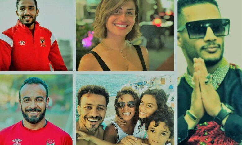 أحدهم ممسكًا برأس العجل.. أبرز 10 لقطات المشاهير في أول أيام العيد