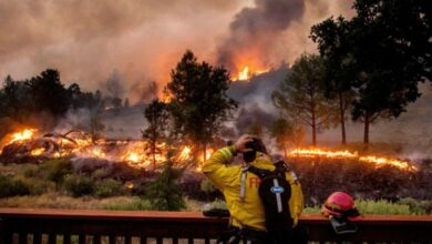 حريق في كاليفورنيا- صورة أرشيفية