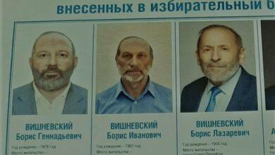 3 مرشحين بانتخابات روسية يحملون نفس الاسم والشكل